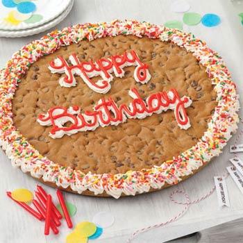 Mrs. Fields Birthday Cookie