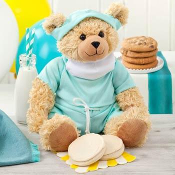 Get Well Soon Cookies & Bear Gift
