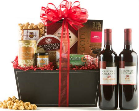 Business Red Wine Gift Basket - $63.90