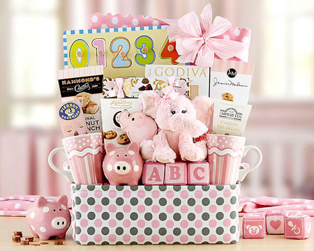 New Baby Gift Basket - $72.00